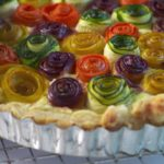 Rainbow Rose Veggie Tart