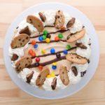 No Bake Monster Cookie Ice Box Cake