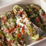 Cheesesteak Zucchini Boats