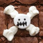 Skeleton Caramel M&M's Marshmallow Brownies