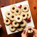 Raspberry Poppyseed Linzer Cookies