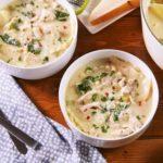Chicken Alfredo Lasagna Soup