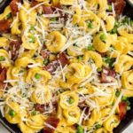 Cheese Tortellini with Peas and Bacon
