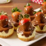 Chocolate Strawberry Cheesecakes