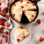 Strawberry Cheesecake Skillet Cake