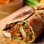 Giant Chinese Orange Chicken Burrito