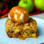 Apple Crumble Cinnamon Swirl Bread Pudding