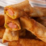 Chili Cheese Dog Egg Rolls