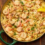 Creamy Lemon-Pepper Shrimp Spaghetti