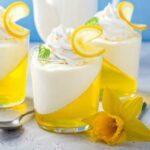 Lemon Mousse Jello Cups