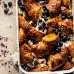 Berry and cream cheese croissant french toast bake