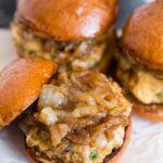 Apple Butter Onion Chicken Burgers