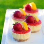 Strawberry Lemonade Mini Cheesecakes