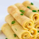 Savory cheese crepes