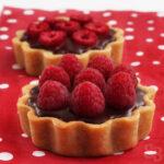 Pierre Herme chocolate raspberry mini tarts